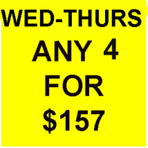 WED-THURS DEAL PICK ANY 4 FOR $157 DEAL BEST OFFERS DISCOUNT MAGICK  - $157.00