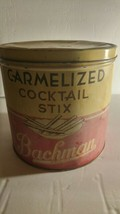 Vintage Bachman Carmelized Cocktail Stix Tin Pre-owned - $10.40