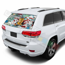Sticker Bomb Skin Rear Window SeeThru Sticker Perforated for Jeep Grand Cherokee - $59.80