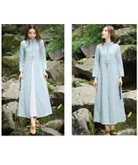 Spring Female Cotton Linen Dresses Long Floor Length Dress Traditional C... - $55.08