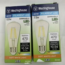 2 Westinghouse Lighting 3518600 4.5 (40-Watt Equivalent) ST15 Dimmable Clear  - $16.41