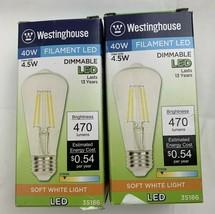 2 Westinghouse Lighting 3518600 4.5 (40-Watt Equivalent) ST15 Dimmable C... - $16.41