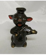 """Brown Pig Playing the Violin Figure 3.25"""" Japan Pottery - $9.13"""