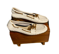 Sperry Top-Sider Audrey Women's Woven Leather Boat Shoes Size 9m - $26.50