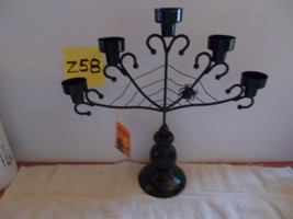 Halloween Black Spiderweb Candelabra Candle Holder - €21,05 EUR