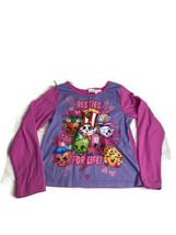 Shopkins Girls Size 10-12 Pink Fleece Pajama Top Long Sleeve Flame Resis... - $13.98