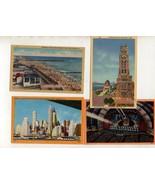 Lot of 4 NYC New York City Vintage Era Linen Postcards Brooklyn Beach pi... - $10.00
