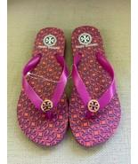 Tory Burch Fuschia Rubber Flip Flop Sandals US 7 NWOB - $37.08