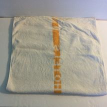 Manger Hotels Bath Towel White Orange 100% Cotton HW Baker Linen Co Cannon Mills image 4