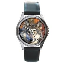 Gray Wolf Unisex Round Metal Watch Gift model 22523284 - $13.99