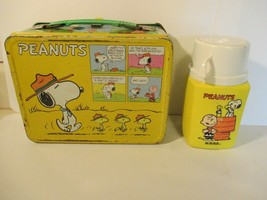 Vintage Peanuts Schults Charlie Brown Metal Lunch Box King Seeley Thermo... - $17.81