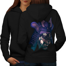 Samurai Tiger Head Sweatshirt Hoody Warrior Cat Women Hoodie Back - $21.99+