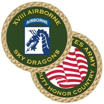 """ARMY XVIII 18TH AIRBORNE CORPS  SKY DRAGONS 1.75""""  CHALLENGE COIN - $17.14"""