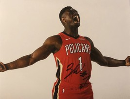 ZION WILLIAMSON AUTOGRAPHED SIGNED 11x14 New Orleans PELICANS PHOTO w/CO... - £133.70 GBP