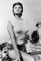 Sophia Loren Busty In Tight Shirt Shorts Pose 18x24 Poster - $23.99