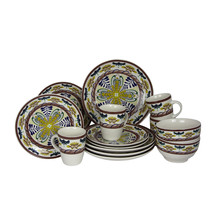 Elama Countryside Sunrise 16pc Stoneware Dinnerware Set - $65.83