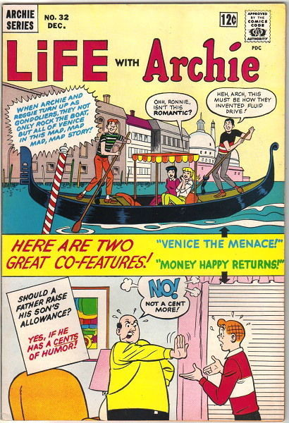 Life With Archie Comic Book #32, Archie 1964 VERY FINE