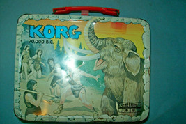Vintage 1975 Korg 70,000 B.C. Lunchbox by Thermos/King Seeley   Free Shipping - $42.26