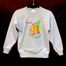 NWOT Girl's Disney Store Sweatshirt Brianna Making a Splash Nemo Light Blue - $21.99