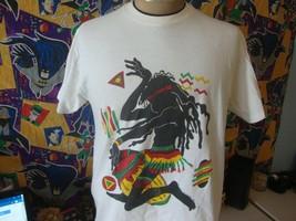 Vintage 90's Tribal Reggae 1990 Conceptual Arts T Shirt L  - $39.59