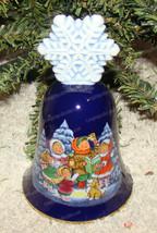 Avon Snowflake Bell (1987) Porcelain, Children Caroling - $9.90