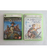 Lot Enchanted Arms & Sid Meier's Civilization Revolution for Xbox 360 Co... - $14.99