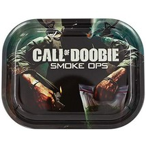 Metal Rolling Tray, Call of Doobie Design by V Syndicate, Small Available in 2 S