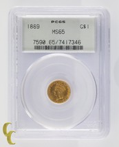 1889 Gold $1 Indian Princess Graded by PCGS as MS65 Gorgeous Coin #7590 - $3,326.40