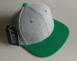 New Original Chuck Gray Green Casual Hat Cap Snap-Back One Size New - £15.43 GBP