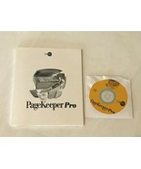 PageKeeper Pro 3.0 CD-ROM PC Computer Software Instruction Manual and Disk - $19.99