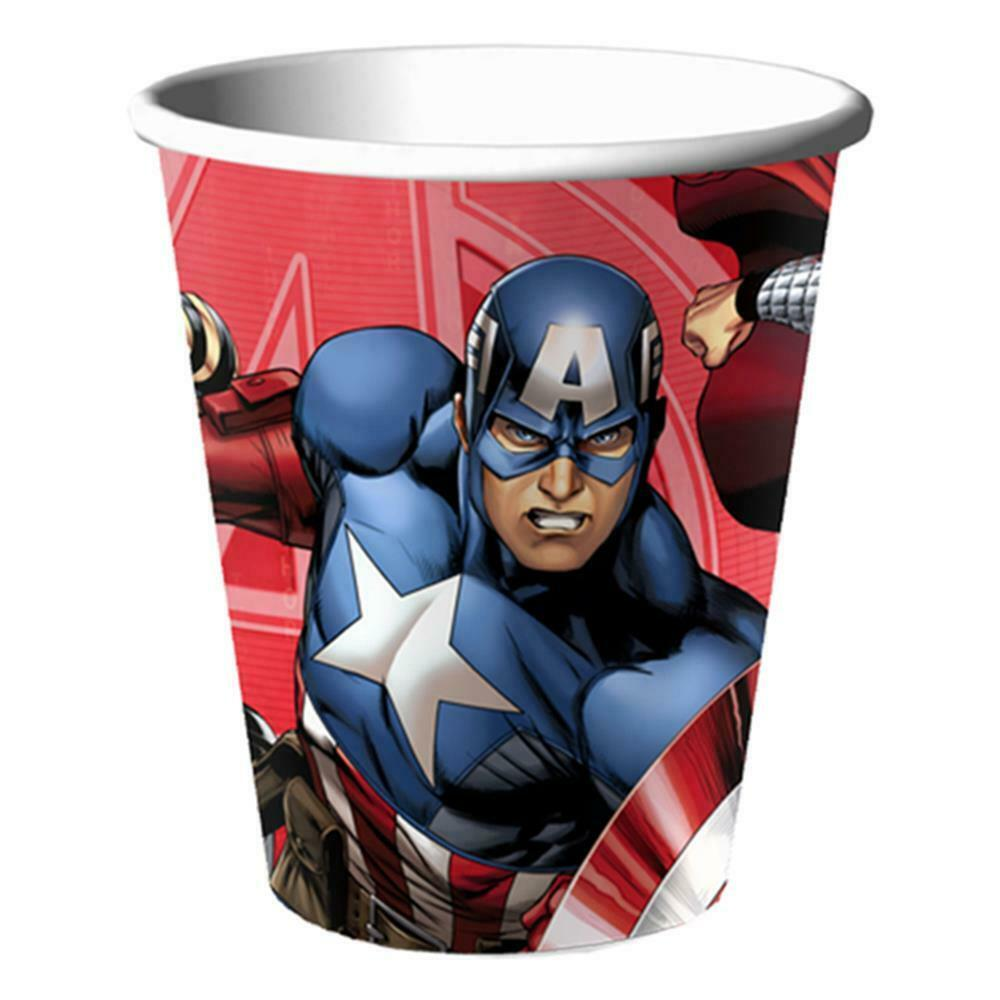 Avengers Assemble Marvel Cups 9 oz Paper Birthday Party 8 Per Package NEW
