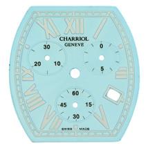Philippe Charriol 27 x 28.5 mm Blue Women's Chronograph Roman Watch Dial - $199.00