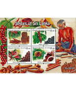 Gewürze von Sri Lanka Miniatur Blatt mit Perforation - $9.49