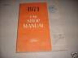 1971 FORD PINTO Service Shop Workshop Repair Manual FACTORY OEM 71 BOOK  - $11.83