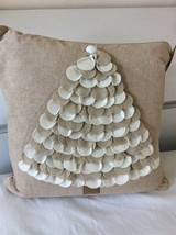 Christmas Decorative Pillow,Handcrafted . Hand Stitched Border. Christma... - $35.00