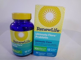Renew Life Ultimate Flora Probiotic Ultimate Care 30 Vegetarian Capsules... - $24.75