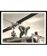 Helicopter Rotor Unusual Angle Precarious Position Young Soldier Vintage... - $18.99