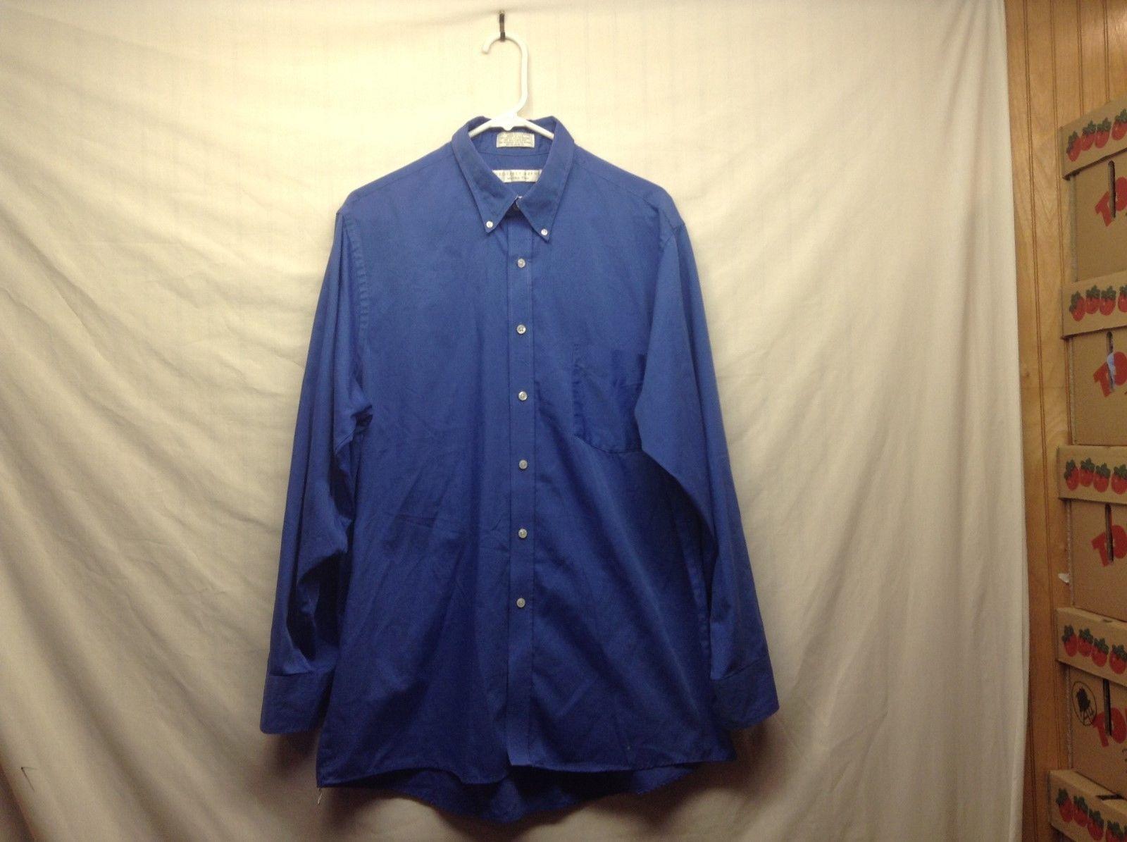 Geoffrey Beene Dark Blue Button Down Dress Shirt Sz 34/35 16.5