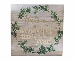 """ReLive - """"It's The Most Wonderful Time of The Year"""" Painted Wooden Box S... - $15.20"""