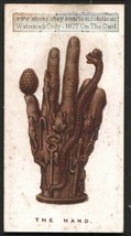 The Hand Talisman Symbol Original 1920s Trade Card - $5.42