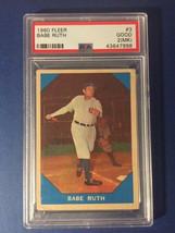 1960 Fleer Babe Ruth #3 PSA 2 Good NO RESERVE !! - $0.99