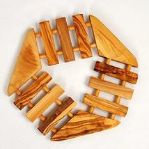 Sale! Wooden Trivet Handcrafted From Olive Wood Hexagon Shape - $9.85