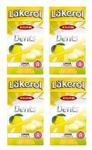 Cloetta Läkerol Dents Lemon + Vitami Swedish Xylitol Candies 36g 4 pack - $16.03