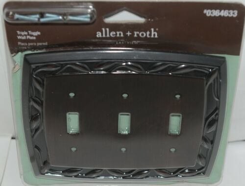 Allen Roth Eastview 0364633 Triple Toggle Wall Plate with Mounting Hardware