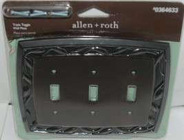 Allen Roth Eastview 0364633 Triple Toggle Wall Plate with Mounting Hardware image 1