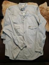 Lot of 2 Vintage 94 Columbia Large Khaki Long Sleeve Shirt MenL Fishing Hunting  - $59.39