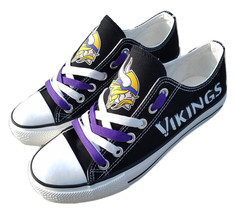 vikings shoes women vikings sneakers converse style minnesota fans birthday gift - $56.00