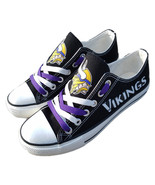 vikings shoes women vikings sneakers converse style minnesota fans birth... - $59.99+
