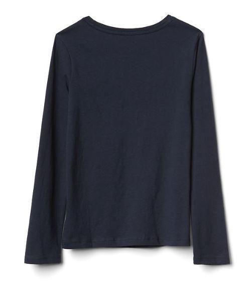 Gap Kids Girls T-shirt Top 4 5 Graphic Green Gray Navy Blue Long Sleeve Crew New image 3