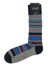 New Mens Alfani Seamless Striped Grey Crew Dress Socks 10-13 - $3.46
